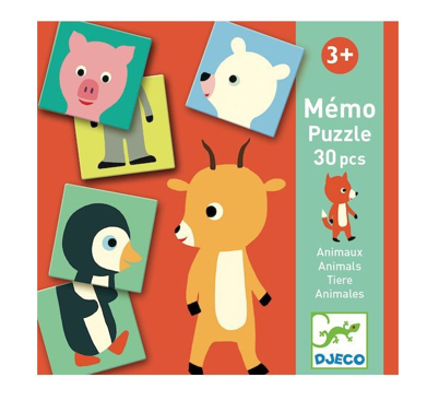 Mémo puzzle - Animaux