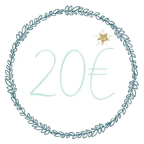 Carte cadeau 20€ (E&O)