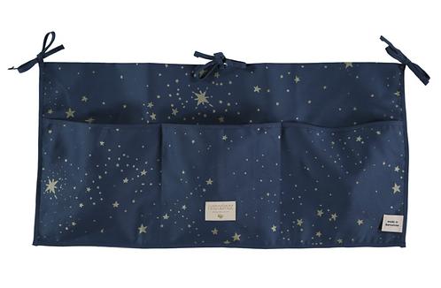 Nobodinoz - Organisateur de lit Gold stella/night blue