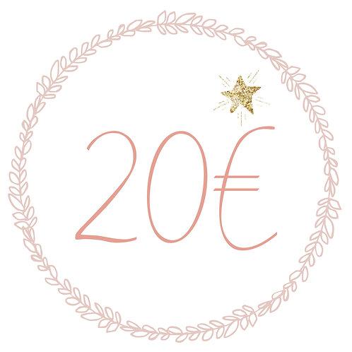 Carte Cadeau 20€ (L&N)