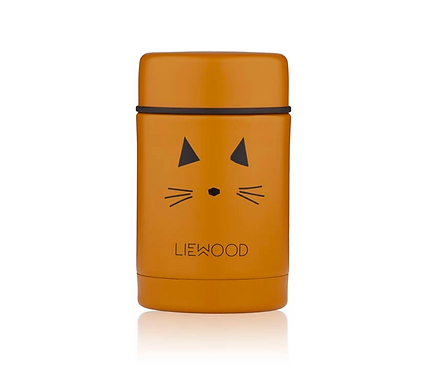 Thermos chat moutarde