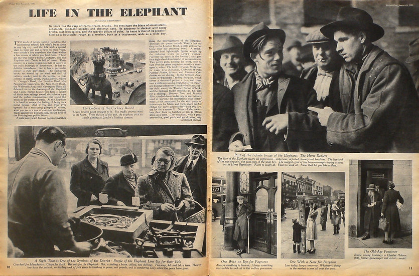 Bert Hardy Life in the Elephant Picture Post 8th January 1949