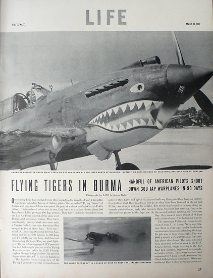 George Rodger Flying Tigers in Burma Life 30th March 1942