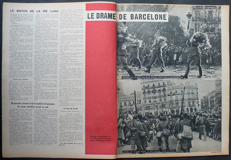 Robert Capa La Drame De Barcelone Match 2nd February 1939