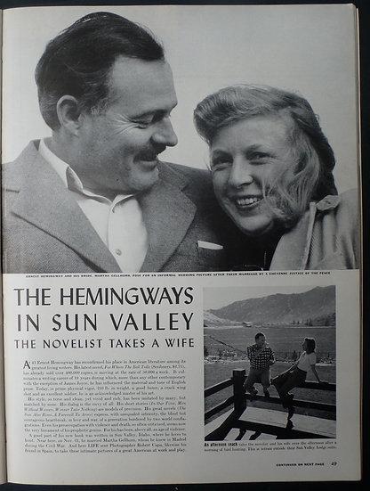 Robert Capa The Hemingways In Sun Valley Life 6th January 1941