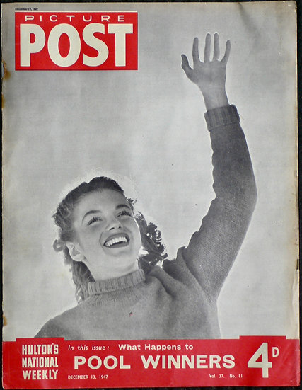 Marilyn Monroe Andre de Dienes Picture Post 13th December 1947