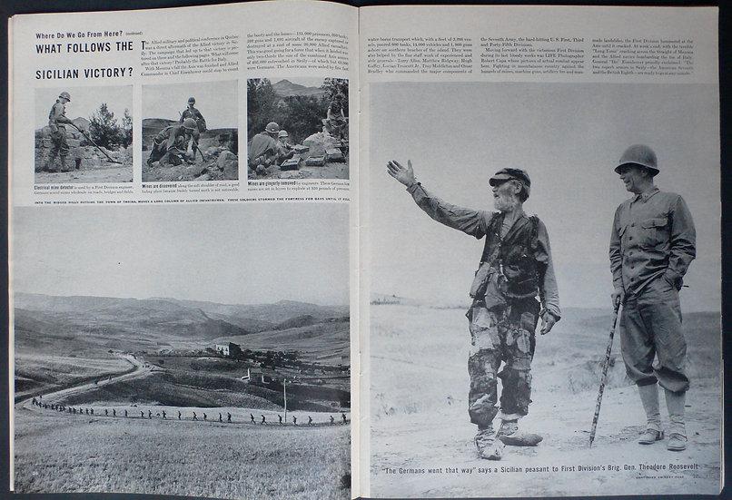Robert Capa Battle for Troina Sicily Life 30th August 1943