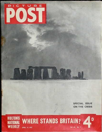 Bill Brandt Stonehenge Picture Post 19th April 1947