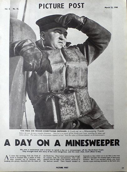 Humphrey Spender A Day on a Minesweeper Picture Post 22nd March 1940