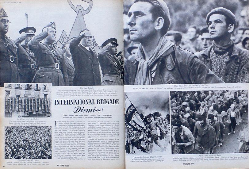 Robert Capa International Brigade Dismiss Picture Post 1938