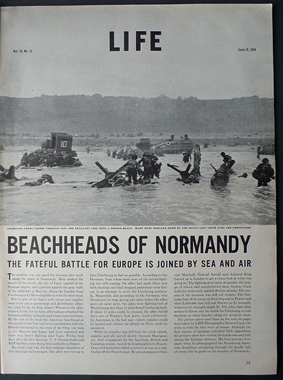Robert Capa Beachheads of Normany Life 19th June 1944