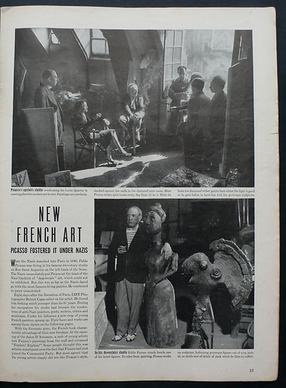 Robert Capa New French Art Picasso Life November 1944