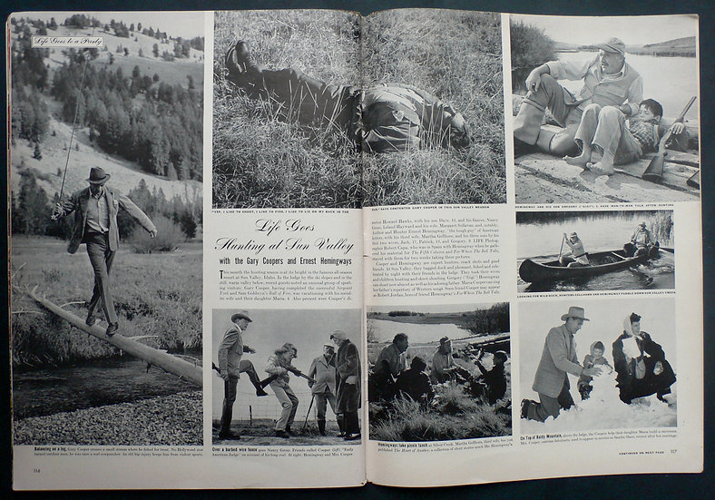 Robert Capa Hemingway Sun Valley Life 24th November 1941
