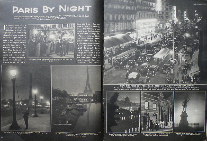 Brassai Paris By Night Picture Post 1939
