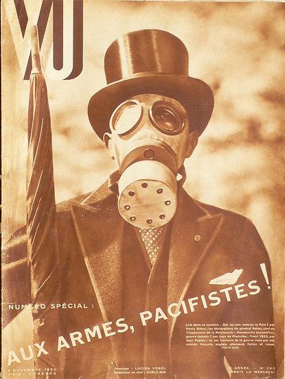 VU 'Aux Armes, Pacifistes!' 9th Novembre 1932