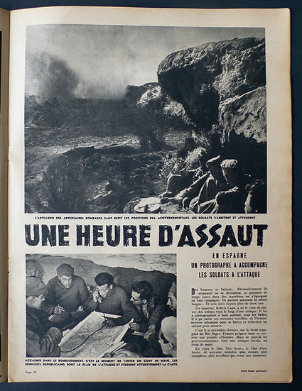 Robert Capa Match Une heure D'Assaut 22nd December 1938