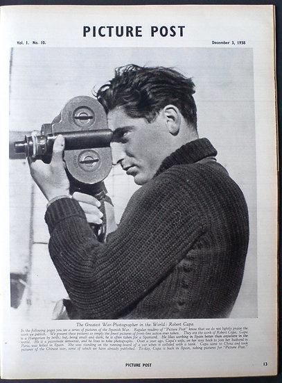 Robert Capa 'This War' Picture Post 3rd December 1938