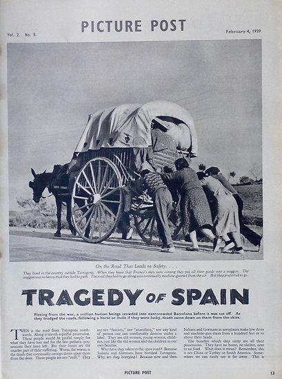 Robert Capa Tradegy of Spain Picture Post 4th February 1939