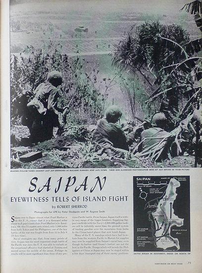 W Eugene Smith Saipan Life 28th August 1944