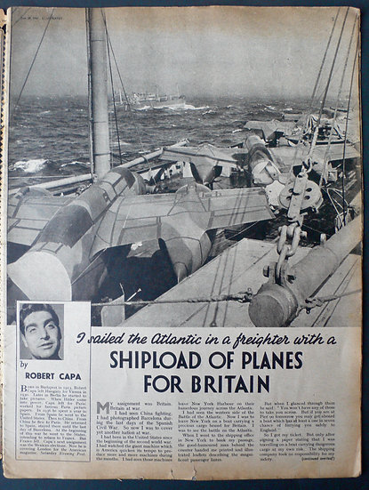 Robert Capa Ship Load Of Planes For Britain Illustrated 28th June 1941