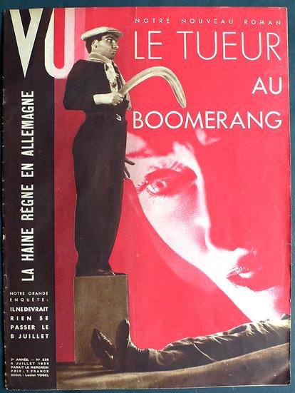 Robert Capa  Le Tueur Au Boomerang - VU 1934
