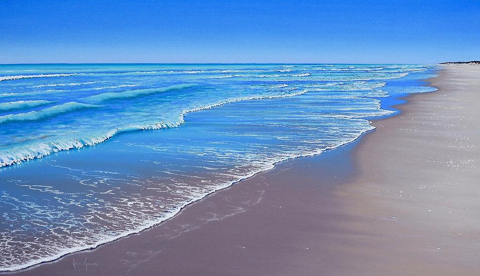 Solitude, 80 Mile Beach WA by Helen Komene, Australian artist