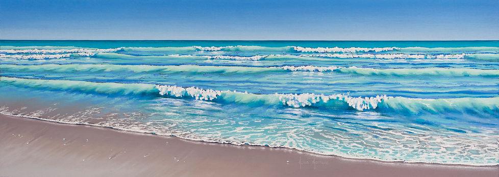 Sound of the Sea, 80 Mile Beach by Helen Komene, Australian artist