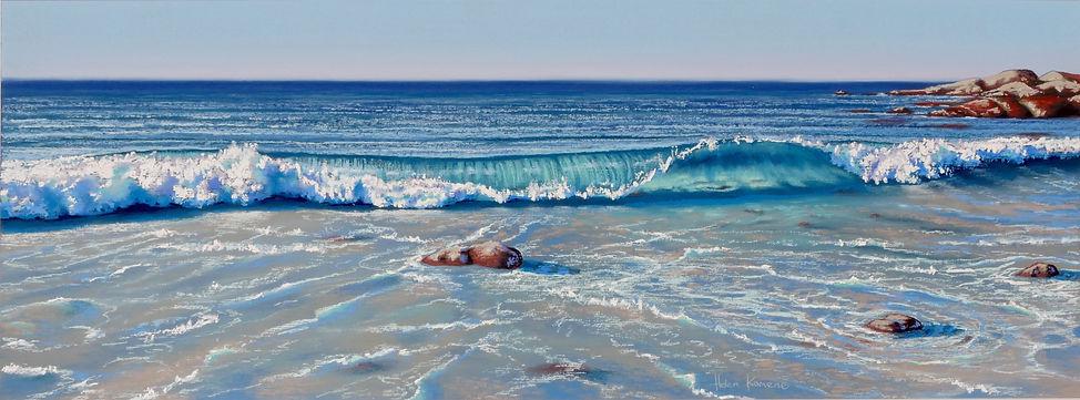 Start of Sunset, Eagle Bay by Helen Komene, Australian artist