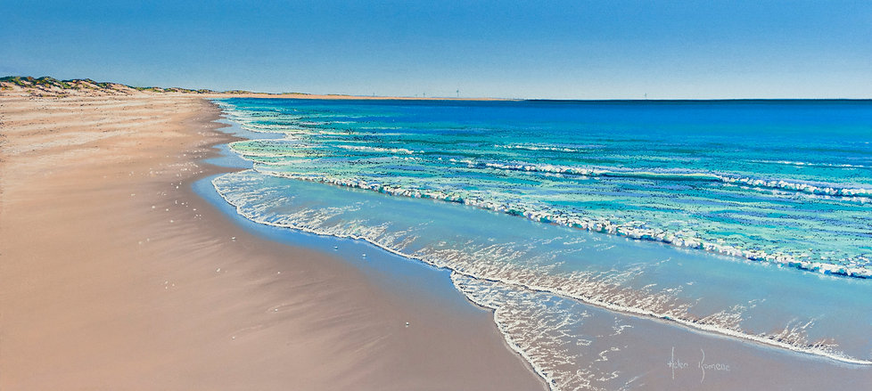 Sea's Signature, Cable Beach Broome by Helen Komene, Australian artist