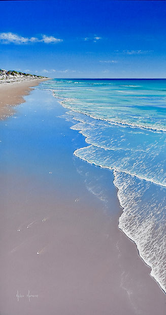 Serenity, Pilbara coast by Helen Komene, Australian artist