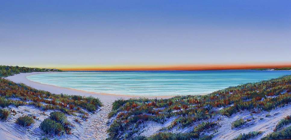 A Perfect End, twlight at Coral Bay Helen Komene, Australian artist