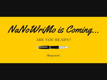 NaNoWriMo is Around the Corner