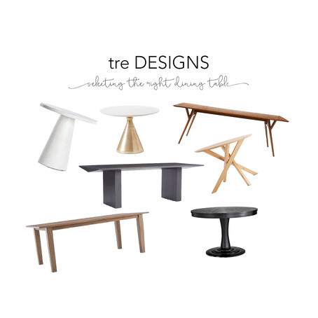 tre Tips - Selecting the Right Dining Table