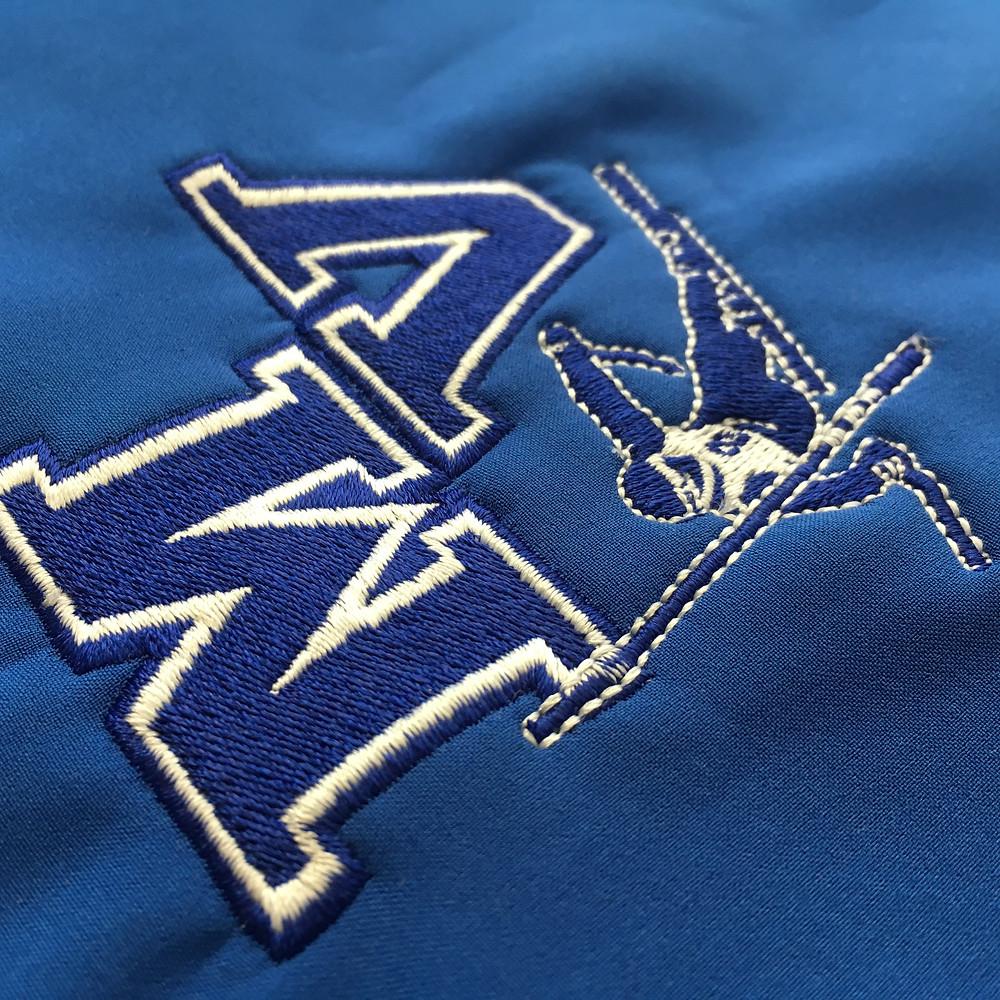 Embroidered ski jacket
