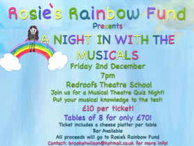 Join us for 'A Night in with the Musicals' 2nd December!
