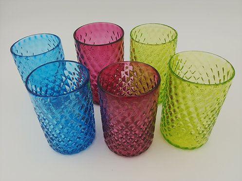Pinapple Molded Drinking Glasses
