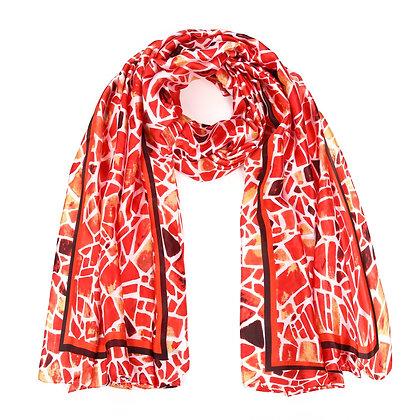 Sjaal rood / oranje