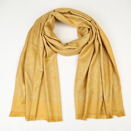 Sjaal panterprint geel