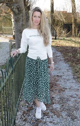 Lange rok groen/wit