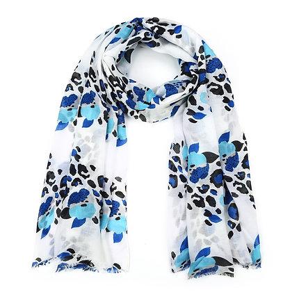 Sjaal blauwtinten / zwart