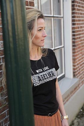 T-shirtje zwart/wit atelier