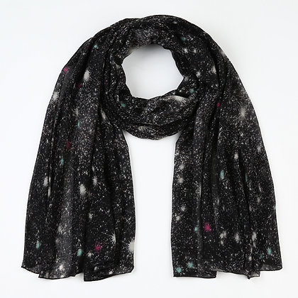 Sjaal zwart sterren