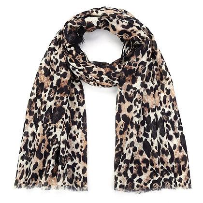 Sjaal bruin panter