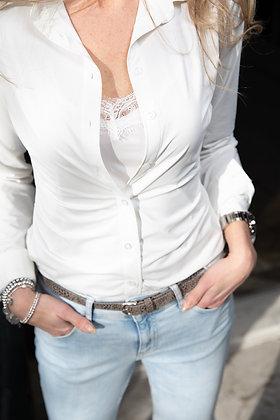 Satijnen kanten hemdje off white