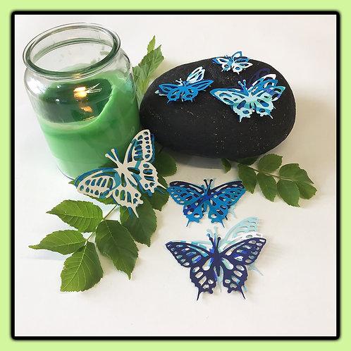 Swallowtail butterflies; a beautiful blue blend