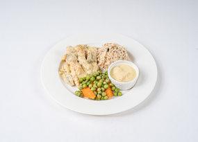 دجاج سوبريم مع رز و orzo