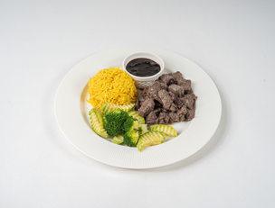 لحم بالكرز و رز الزعفران