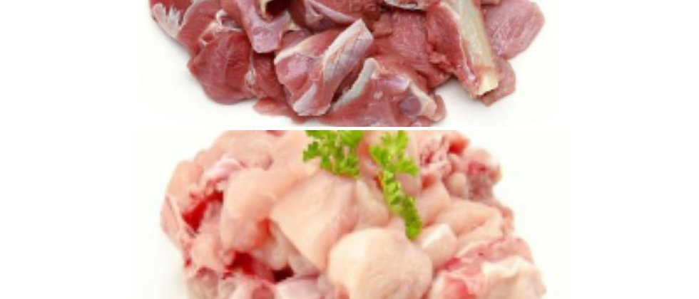 Combo of 1kg mutton and 500gms chicken