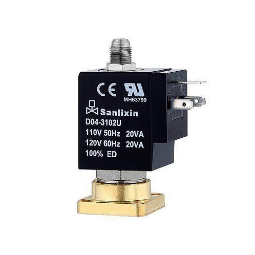 3/2-way plate type solenoid valve in press safety valve, cylinder valve