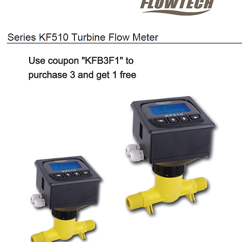 KF510 Series Flowmeter w/ batch controller (Compact type) (w/o cable)